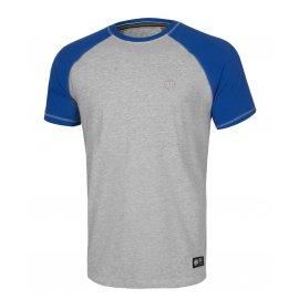 Koszulka Pit Bull Garment Washed Raglan Small Logo '21 - Szara/Niebieska