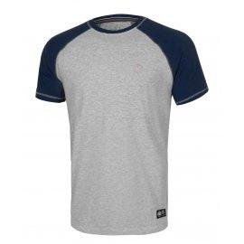 Koszulka Pit Bull Garment Washed Raglan Small Logo '21 - Szara/Granatowa