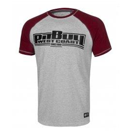 Koszulka Pit Bull Garment Washed Raglan Boxing '21 - Szara/Bordowa