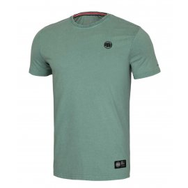 Koszulka Pit Bull Denim Washed Small Logo '21 - Zielona