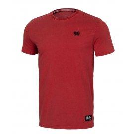 Koszulka Pit Bull Denim Washed Small Logo '21 - Bordowa