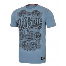 Koszulka Pit Bull Denim Washed Multisport '21 - Niebieska