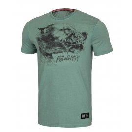 Koszulka Pit Bull Denim Washed Shlimock '21 - Zielona