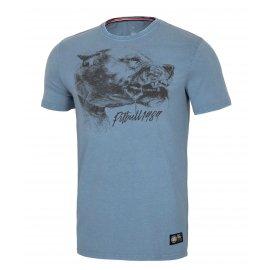 Koszulka Pit Bull Denim Washed Shlimock '21 - Niebieska