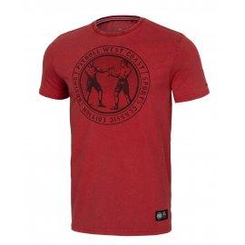 Koszulka Pit Bull Denim Washed Vintage Boxing '21 - Bordowa