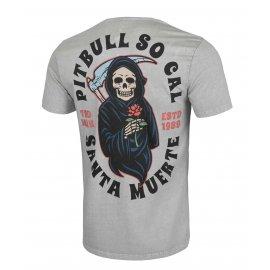 Koszulka Pit Bull Denim Washed Santa Muerte '21 - Szara