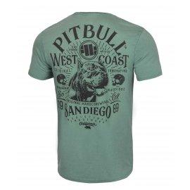 Koszulka Pit Bull Denim Washed San Diego 89 '21 - Zielona