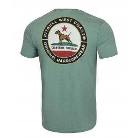 Koszulka Pit Bull Denim Washed California Dog '21 - Zielona