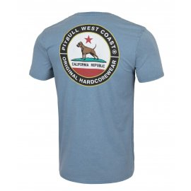 Koszulka Pit Bull Denim Washed California Dog '21 - Niebieska