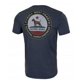 Koszulka Pit Bull Denim Washed California Dog '21 - Granatowa