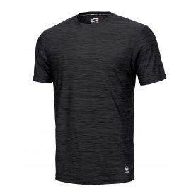 Koszulka Pit Bull Casual Sport No Logo '21 - Czarny Melanż