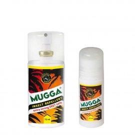 Zestaw 2szt - Repelent Środek na komary i inne owady Mugga Strong Roll-On (kulka) 50ml oraz Spray 75ml 50% DEET