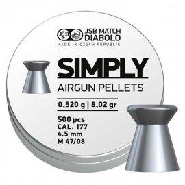 Śrut JSB 4,50mm Simply 500szt.  0,520g