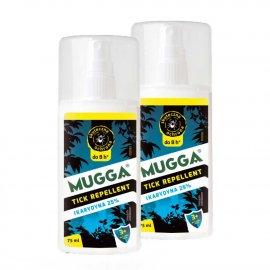 Zestaw 2szt - Repelent Środek na kleszcze komary inne owady Mugga TICK spray 25% Ikarydyn