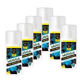 Zestaw 6szt - Repelent Środek na kleszcze komary inne owady Mugga TICK spray 25% Ikarydyn