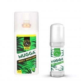 Zestaw - Repelent Środek na komary i inne owady Mugga spray 75ml + Roll-On (kulka) 50ml 9,4% DEET