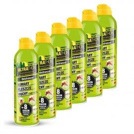 Zestaw 6szt - Repelent Środek na komary kleszcze, Ultrathon Spray 170g 25% DEET