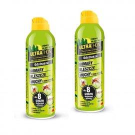 Zestaw 2szt - Repelent Środek na komary kleszcze, Ultrathon Spray 170g 25% DEET