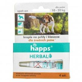 HAPPS Herbal - krople na pchły i kleszcze dla średnich psów