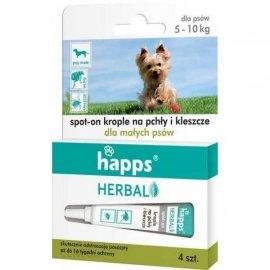 HAPPS Herbal - krople na pchły i kleszcze dla małych psów
