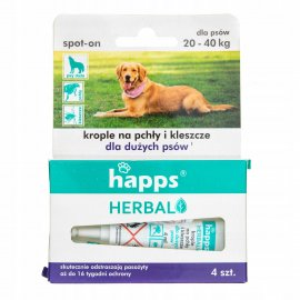 HAPPS Herbal - krople na pchły i kleszcze dla dużych psów
