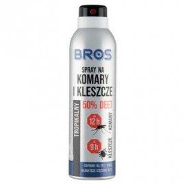 BROS - spray na komary i kleszcze 50% DEET 180ml