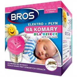 BROS - elektro + płyn na komary dla dzieci od 1 ro
