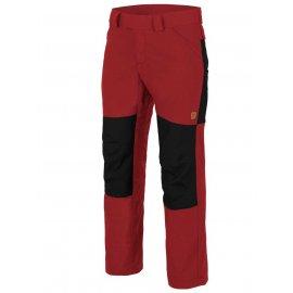 spodnie Helikon Woodsman - Czerwone/Czarne