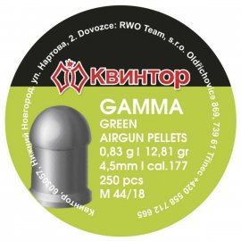 Śrut Kvintor 4,50mm Gamma Green 250 szt