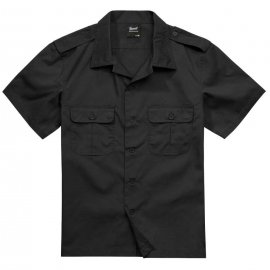 Koszula z krótkim rękawem BRANDIT US Shirt Ripstop - Czarna