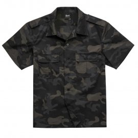 Koszula z krótkim rękawem BRANDIT US Shirt Ripstop - Darkcamo