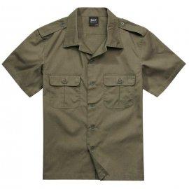Koszula z krótkim rękawem BRANDIT US Shirt Ripstop - Oliwkowa