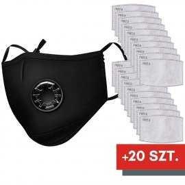 Maska ochronna na twarz FFP2 N95 PM2.5 + 20 filtrów