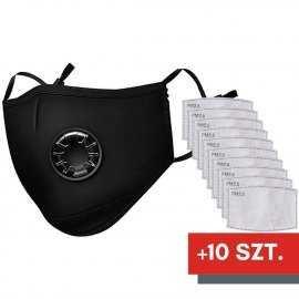 Maska ochronna na twarz FFP2 N95 PM2.5 + 10 filtrów