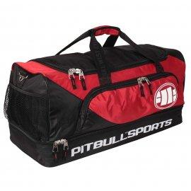 Torba sportowa Pit Bull PB Sports Logo '21 - Czarna/Czerwona