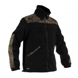 Bluza polarowa Texar Grom czarny/wz.93 leśny