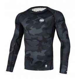 Rashguard termoaktywny L-S Pit Bull Performance Pro Plus Small Logo '21 - All Black Camo