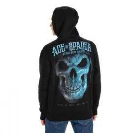 Bluza z kapturem Pit Bull Blue Skull '21 - Czarna