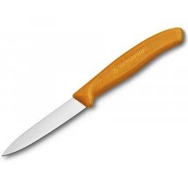 Nóż kuchenny Victorinox do jarzyn, gładki, 8 cm, pomarańczowy