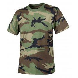 T-shirt Helikon cotton US woodland