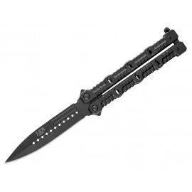 Nóż JOKER MOTYLEK Aluminio Hoja 10,5 cm black
