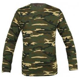 koszulka Mil-Tec z długim rękawem woodland