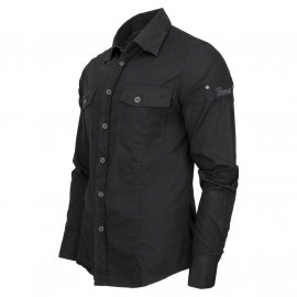 Koszula z długim rękawem BRANDIT SlimFit Shirt - Czarna