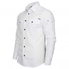 Koszula z długim rękawem BRANDIT SlimFit Shirt - Biała