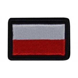 Plakietka Haasta Haft Flaga Polski B/Cz Rzep