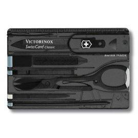 Multitool Victorinox SwissCard Classic, trans. czarny