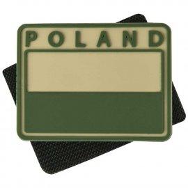 naszywka emblemat FLAGA PL kpl. 2szt. PVC beż