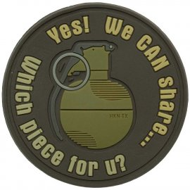 naszywka Helikon Granat WE CAN SHARE PVC brązowa
