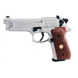 wiatrówka - pistolet BERETTA M92FS NICKEL/WOOD