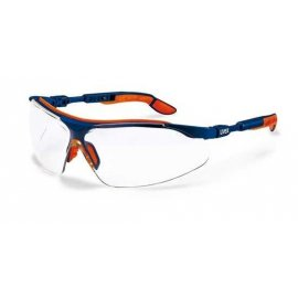 Okulary I-vo - bezbarwne, oprawki niebiesko-pomarańczowe